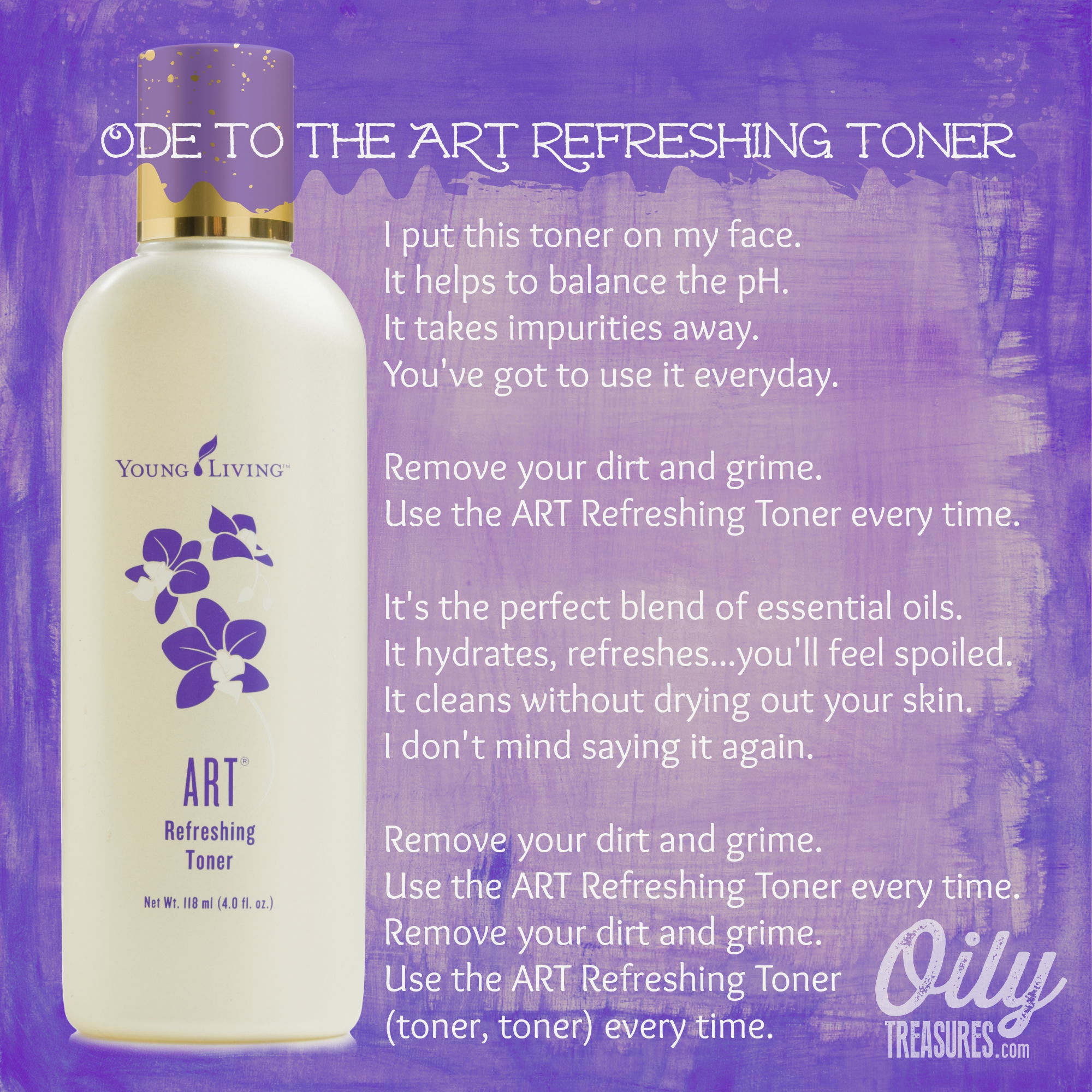 Art Line Young Living : My natural skincare routine step toner using young